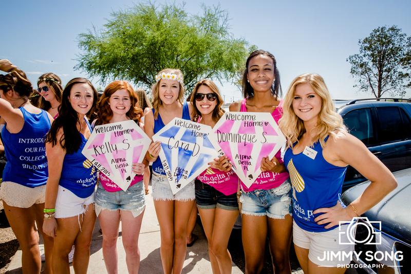 University of Arizona Alpha Delta Pi Bid Day 2015 Pictures Tucson Arizona