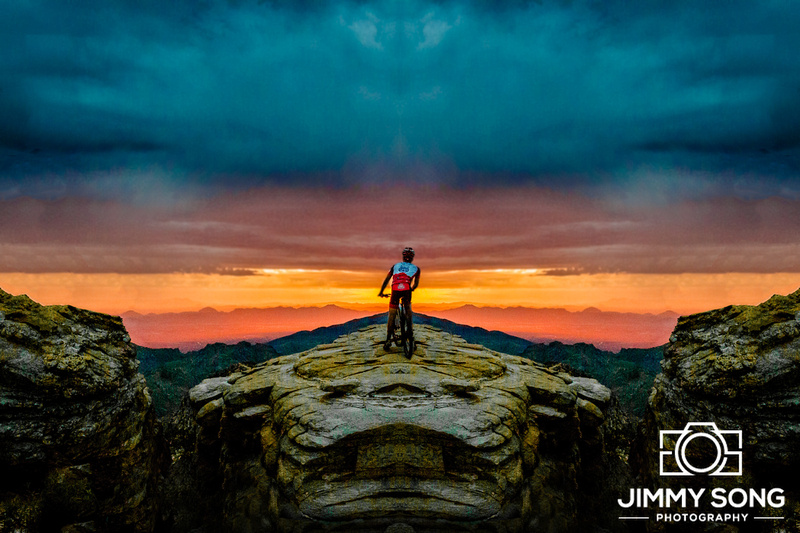 Mountain Lemmon Cycling Photoshoot Sunset Rain Cloudy Adventure Epic Tucson Arizona