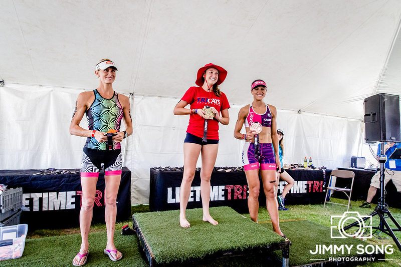 University of Arizona TriCats Triathlon Club competing at Lifetime Tempe Triathlon