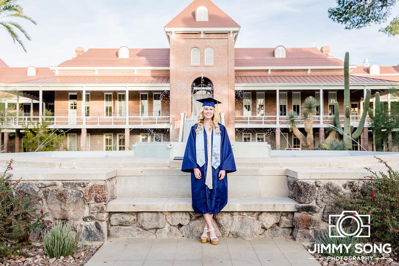 Winter senior graduation pictures portraits University of Arizona Tucson