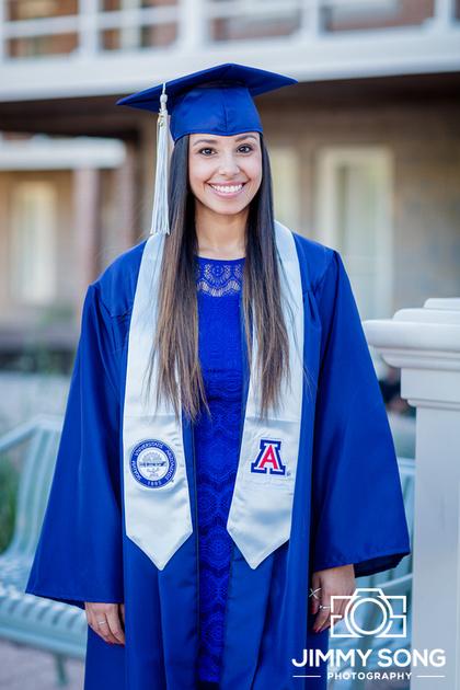 Winter Senior Graduation Portraits Tucson Arizona University of Arizona