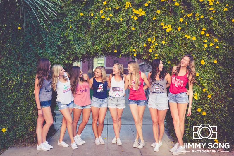University of Arizona Tucson Arizona Group Graduation Pictures Ladies Beautiful Scottsdale Phoenix Photographer