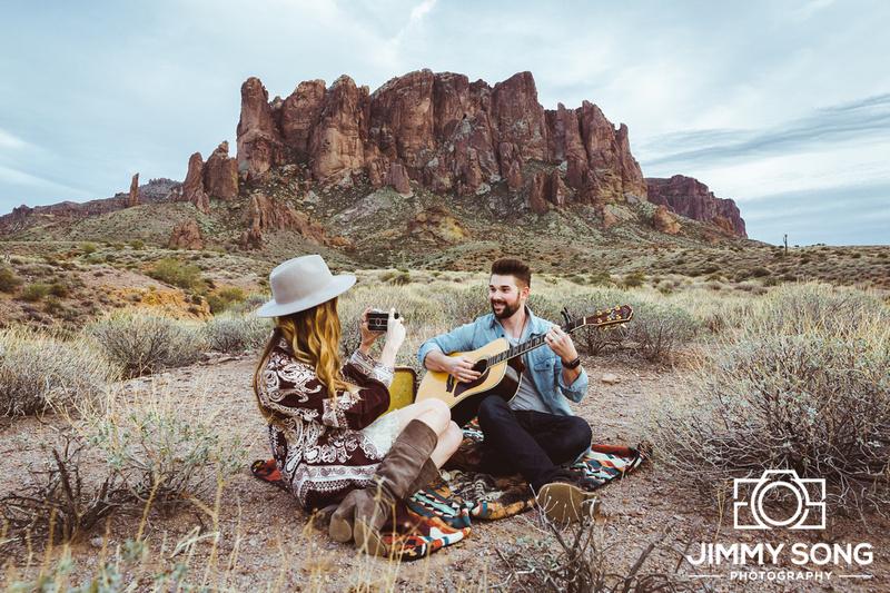 Arizona Engagement Wedding Couples Mountain Photographer Photography
