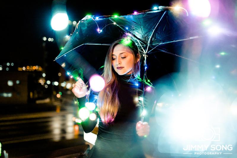 Tucson Arizona Night Time Rain Lights Photoshoot