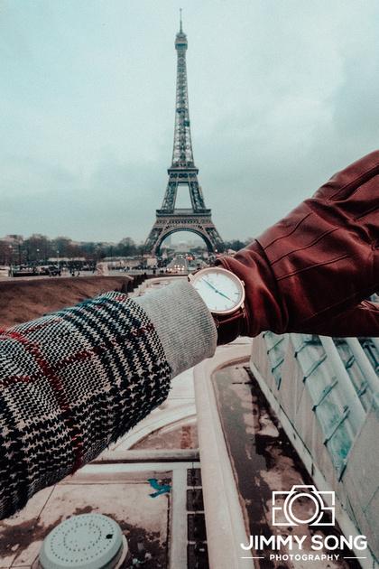 Adventures in Paris, France. Eiffel tower,