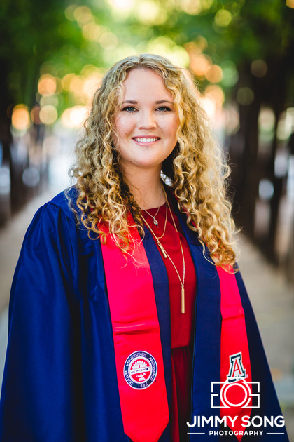 University of Arizona Senior Graduation Pictures in Tucson Arizona
