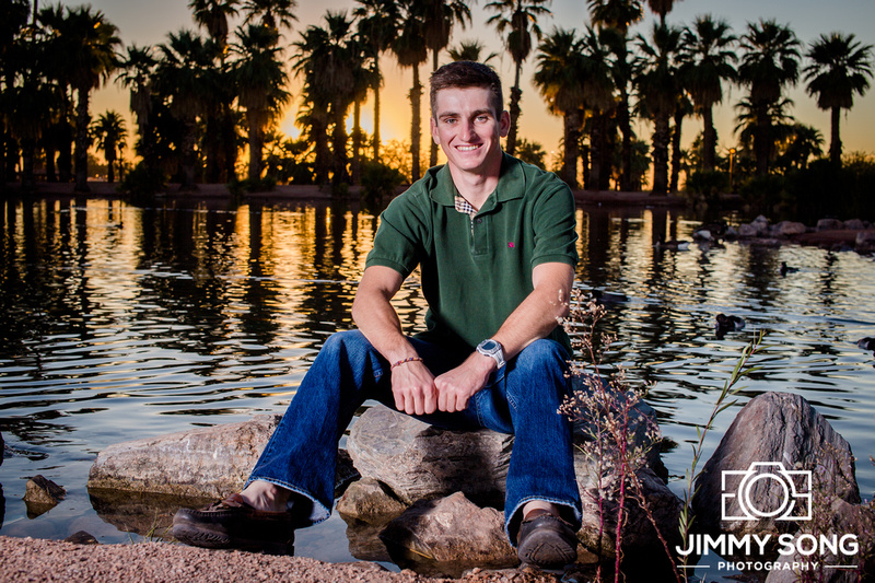 Sunset Family Winter Christmas Holiday Portraits Pictures Tempe Arizona