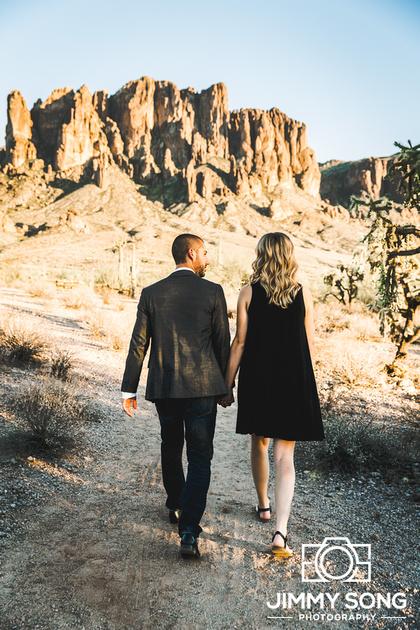Arizona Mountain Sunset Engagement Photoshoot Tucson Scottsdale Mesa