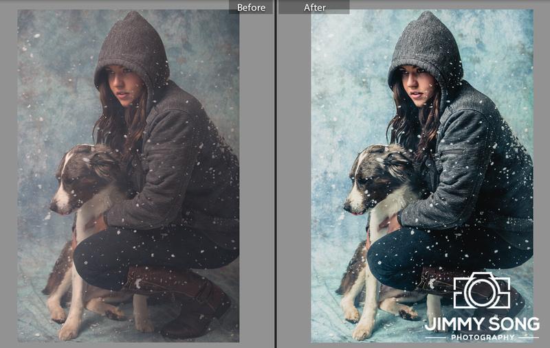 Indoor Studio Snow / Blizzard Photsoshoot