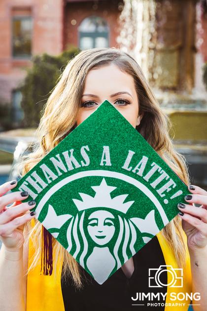 Starbucks ASU Scholar senior graduation pictures